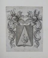 Ex-libris Ou Illustration Héraldique XVIIIème - Ex-libris