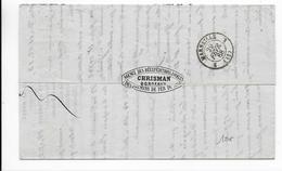 1868 - VIGNETTE AGENCE Des REEXP. à VOILES CHEMINS De FER Du MIDI Sur LETTRE CIE BATEAUX à VAPEURS Du HAVRE à BORDEAUX - 1849-1876: Periodo Clásico