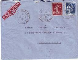 """RARE Lettre """" BATEAU AVION """" La Reunion à Marseille Lettre ESCALE à Trouver Pour La France TEXTE 1938 Bateau METZINGER - Marcophilie (Lettres)"""
