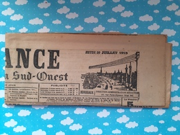 Journal La France De Bordeaux Et Du Sud Ouest WWI 29 Juillet 1915 - Journaux - Quotidiens
