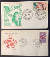 AFMA1 Fédération Du Mali Dakar 7/11/1959 + Anniversaire C.C.T.A. Bamako 21/5/1960 FDC Premier Jour Lot 2 Lettre - Mali (1959-...)