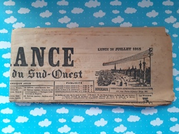 Journal La France De Bordeaux Et Du Sud Ouest WWI 26  Juillet 1915 - Journaux - Quotidiens