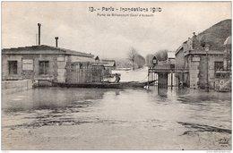 PARIS INONDATIONS DE 1910 PORTE DE BILLANCOURT QUAI D'AUTEUIL TBE - Inondations De 1910
