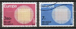 BELGIQUE. N°1530-1 De 1970 Oblitérés. Europa'70. - 1970