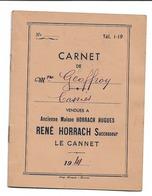 CARNET De Fleurs De CASSIES Pour Distillerie R HORRACH LE CANNET 1941 Mme Geoffroy N070 - France