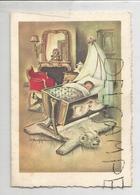 Mignonnette. Petit Enfant Dans Son Berceau Sur Une Peau D'ours. Anne Févry Née Le 20 Mars 1960. Signée Bukae - Naissance & Baptême