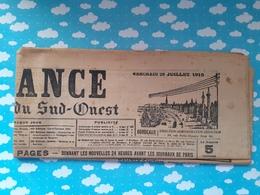Journal La France De Bordeaux Et Du Sud Ouest WWI 28  Juillet 1915 - Journaux - Quotidiens