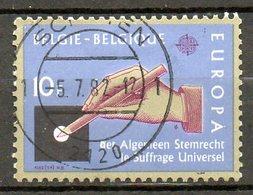 BELGIQUE. N°2048 De 1982 Oblitéré. Suffrage Universel. - Europa-CEPT