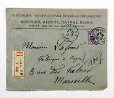 Maroc - Lettre Recommandée 1916 Rabat --> Marseille, Affr. 35c YT 47 - Lettres & Documents