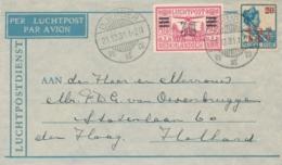 Nederlands Indië - 1931 - 12,5 En 30 Cent Opdrukzegels Op LP-briefje Van LB Djember Naar Den Haag / Nederland - Indes Néerlandaises