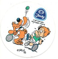 Sticker Autocollant Bollie Billie Boule Bill ROBA 1985 Jacky Kaas Fromage Reclame Publiciteit Publicité Tennis - Stickers