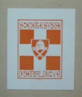 Ex-libris Illustré XXème - SOCIETE SUISSE D'HERALDIQUE - Ex-libris