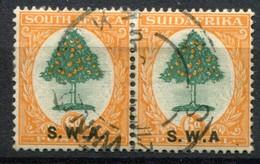 Südwestafrika South West Africa Mi# 122-123 Paar Gestempelt Ohne Punkt Hinter A - South West Africa (1923-1990)
