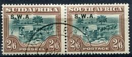 Südwestafrika South West Africa Mi# 126-127 Paar Gestempelt Ohne Punkt Hinter A - South West Africa (1923-1990)