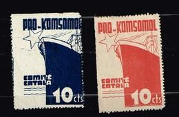 Pro Komsomol Comite Catala - Vignettes De La Guerre Civile