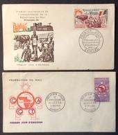 AFMA4 République Du Mali Anniversaire Indépendance 22/9/1961 + C.C.T.A. Bamako 21/5/1960 FDC PJ Lot 2 Lettre - Mali (1959-...)