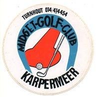 Sticker Autocollant Midget Golf Club  Turnhout Karpermeer  Reclame Publiciteit Publicité Sport - Stickers