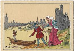 Paris.   -   Chaperon Jean   -   Sous  Louis X.   -    La Tour De Nesles Au XIV E Siècle  (1350) - Mode