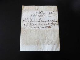 LETTRE DE NISMES POUR LE CHATEAU DE LA MOTTE FOUQUE PRES DE LA FERTE MACE  -  1826  - - 1801-1848: Precursori XIX