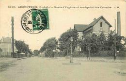 VAL D'OISE  ARGENTEUIL  Route D'Enghien Et Rond Point Des Colonies - Argenteuil
