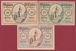 Autriche 3 Notgeld Stadt St Leonhard Dans L 'état N °55 - Austria