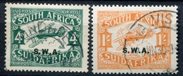 Südwestafrika South West Africa Mi# 136/137 II Gestempelt Airmail - South West Africa (1923-1990)
