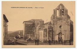 CPA - CORNILLON-CONFOUS (Bouches Du Rhône) - Place De L'Eglise - France