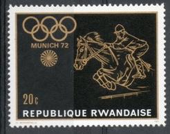 Ruanda Rwanda 1971 - Equitazione Equestrian MNH ** - 1970-79: Nuevos