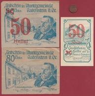 Autriche 3 Notgeld Stadt Rabenstein (RARE) Dans L 'état N °57 - Austria