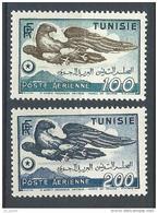 """Tunisie Aerien YT 14 & 15 (PA) """" Aigle, Rectiligne """" 1949 Neuf** - Tunisia (1888-1955)"""