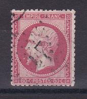 D102/ NAPOLEON N° 24 OBL COTE 60€ - 1862 Napoléon III
