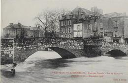VILLEFRANCHE DE ROUERGUE : Le Pont Des Consuls - Vue De L'Aveyron - Inondation  Duu 14 Décembre 1906 - Villefranche De Rouergue