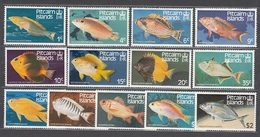 Pitcairn - Correo Yvert 231/43 ** Mnh Fauna. Peces - Islas De Pitcairn