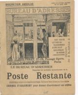 1900 Livret De 16 Pages POSTE RESTANTE PRIVÉE BUREAU D'ADRESSE - TARIFS - FERET PARIS - Post