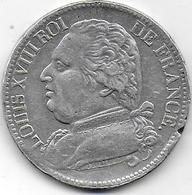 5 Fr Louis XVIII  1814 M - J. 5 Francs