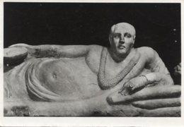 Firenze - Cartolina Antica OBESUS ETRUSCUS (Coperchio DiSarcofago) Museo Archeologico, F.lli Alinari I.D.E.A. - R23 - Sculptures