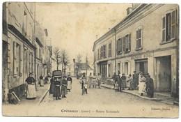 02-CREZANCY-Route Nationale...  Animé  Boucherie MOREL  (rousseurs, Coin Pli) - Francia