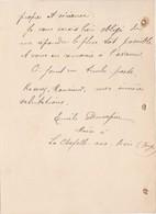Courrier 1905 / Emile Dusapin Maire / 88 La Chapelle Aux Bois / Demande Renseignements Employée Maison Joséphine Bonnard - 1900 – 1949