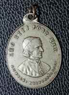 """Pendentif Médaille Religieuse XIXe """"Pape Léon XIII / Médaille Miraculeuse"""" Religious Medal - Religione & Esoterismo"""
