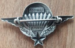 N° Insigne PARA Brevet Certificat Parachutiste Avec Numéro DRAGO - Navy
