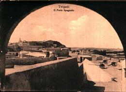 11150) CARTOLINA DI TRIPOLI-IL FORTE SPAGNOLO-VIAGGIATA - Libyen