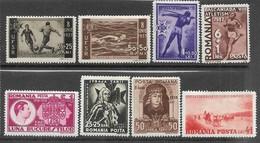 Romania   1937-8    Sc#208-15  8 Diff MH   2016 Scott Value $9.65 - Nuevos