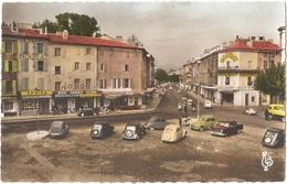 Dépt 26 - MONTÉLIMAR - La Place D'Aygu - (CPSM 8,9 X 13,9 Cm) - Automobiles Anciennes CITROËN, Etc. - Montelimar