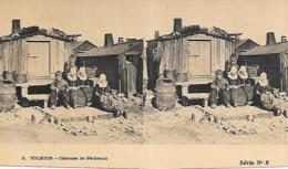 TOLHUIS CABANE DE PECHEURS CARTE STEREOSCOPIQUE - Volendam