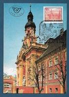 Österreich  1988  Mi.Nr. 1915 , Stift Wilten - Stifte + Klöster - Maximum Card - SS Briefmarken-Werbeschau 18.3.1988 - Maximumkarten (MC)