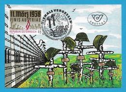 Österreich  1988  Mi.Nr. 1914 , 11.März 1938 Finis Austriae - Maximum Card - Stempel NIEMALS VERGESSEN 11.3.1988 - Maximumkarten (MC)