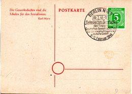 """(FC-8) All.Besetz.(Gemeinschaftsausgaben) Sonderkarte """"Allg. Delegierteten-Konferenz FDGB"""" EF Mi 915 SSt.9.2.46 BERLIN - American,British And Russian Zone"""