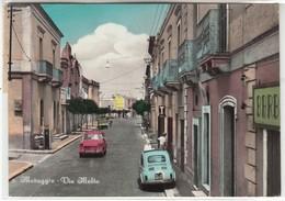 MARUGGIO TARANTO VIA MALTA CON AUTO FIAT - CARTOLINA ORIGINALE SPEDITA NEL 1967 - Autres Villes