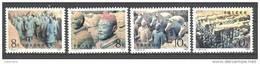 Chine: Yvert N°2596/9**; MNH; Personnages En Terre Cuite - 1949 - ... République Populaire