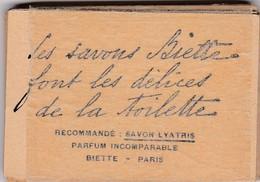 PARIS SAVON BIETTE PARFUM INCOMPARABLE SAVON LYATRIS LOT DE 16 PETITES CARTES PARFUMEES PUBLICITAIRE DELICES TOILETTE - Droguerie & Parfumerie